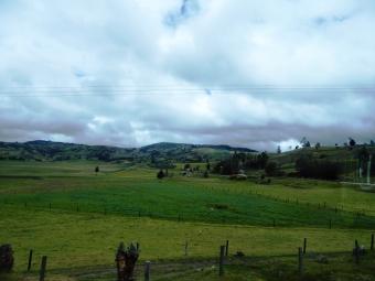 campi di patate sulle Ande, regione di Boyacà