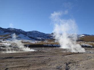 Campo geotermico El Tatio, Cile, 2017