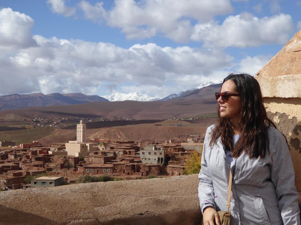 Vista di Telouet dalla cima della Kasbah