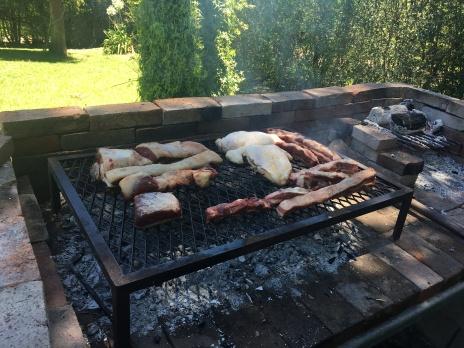 L'asado, la grigliata è il piatto principale del pranzo di Natale